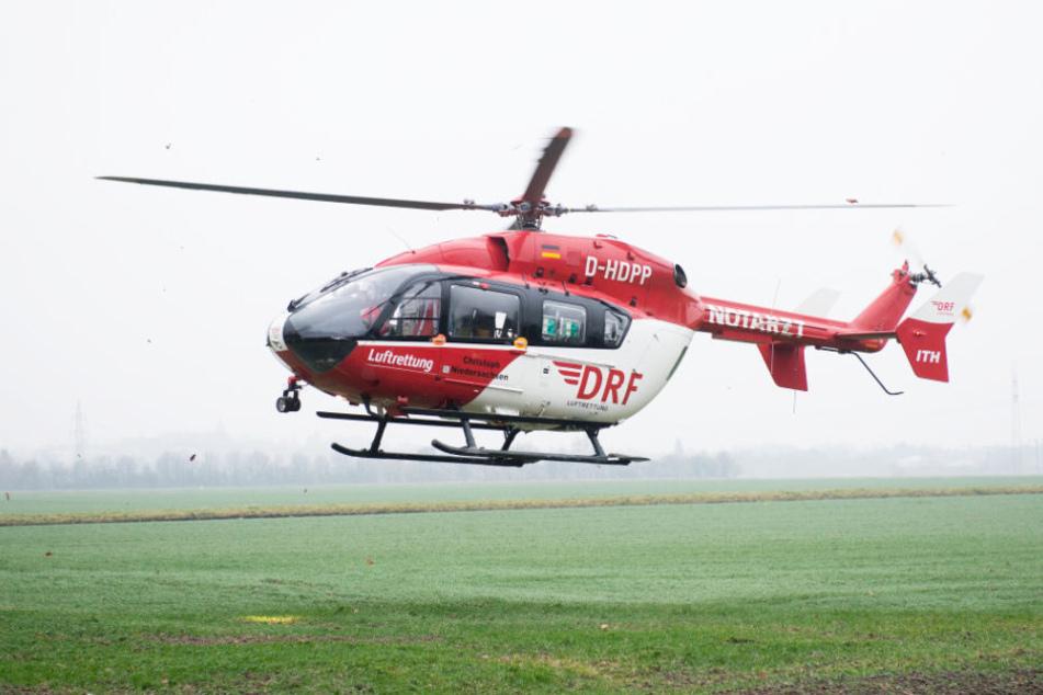 Zwei Rettungshubschrauber brachten Verletzte in Krankenhäuser. (Symbolbild)