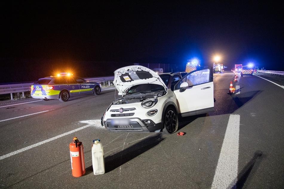 In dem Fiat wurden drei Personen leicht verletzt.