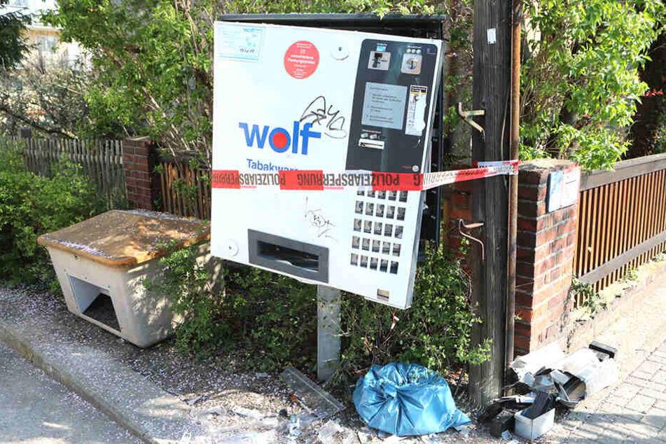 Auf der Boderitzer Straße in Dresden alarmierte eine Zeugin die Polizei wegen der Sprengung.