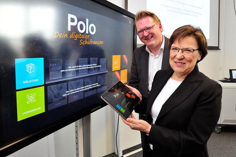 2014 startete Kultusministerin Brunhild Kurth (62, CDU) ein Pilotprojekt, um  Tablets im Unterricht zu erproben.