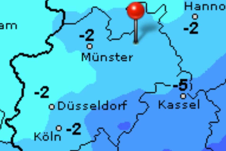 Es wird wieder richtig kalt in Ostwestfalen-Lippe.