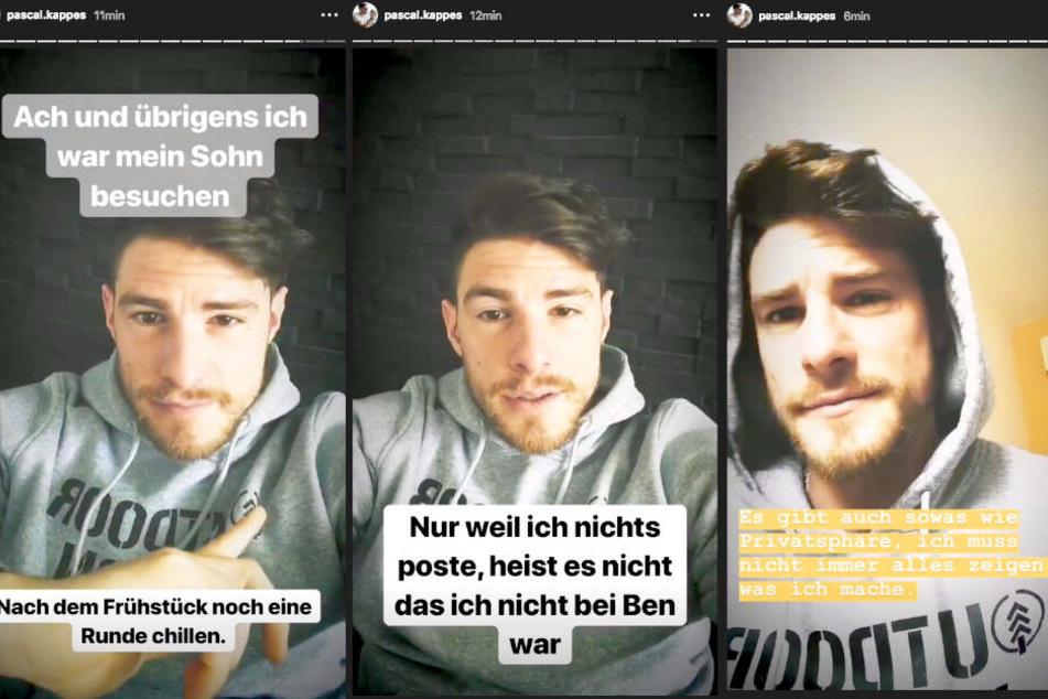 Auf Instagram verteidigt sich Pascal Kappés (28) gegen seine Hater.