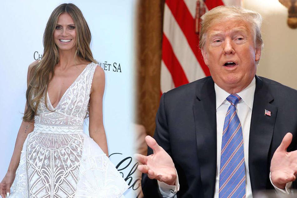 Heidi Klum lässt sich von Donald Trumps Bemerkungen nicht unterkriegen.