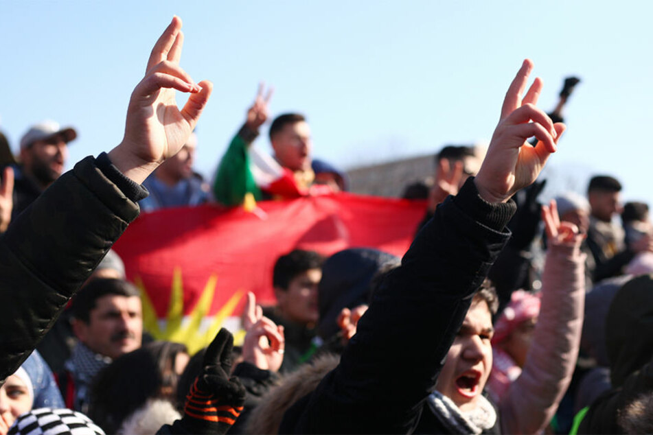 Wie hier am 3. März 2018 zog die Kurden-Demo durch die Hauptstadt. (Archivbild)