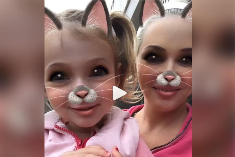 Daniela Katzenberger mit ihrer Tochter Sophia auf Instagram.