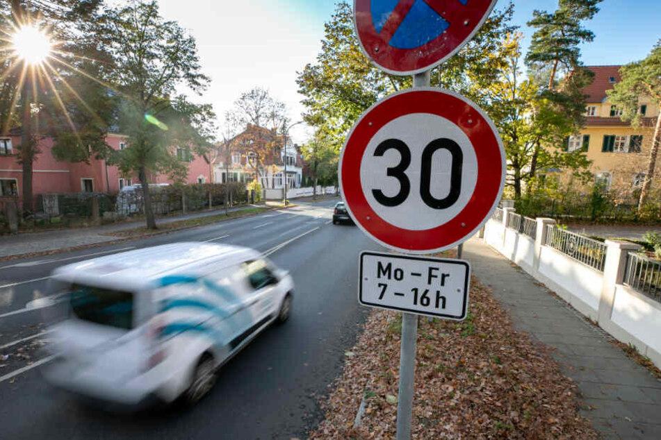 Vor den Kitas auf der Heideparkstraße wurden die meisten Temposünder erwischt.