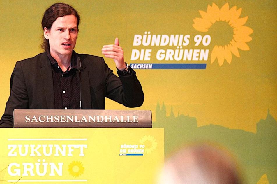 Landeschef Jürgen Kasek (36).