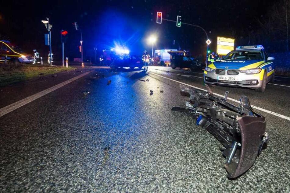 Drei Autos sind auf dem Ostring ineinander gekracht.