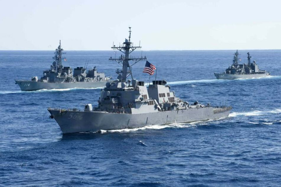 "Der US-Zerstörer ""USS John S. McCain""."