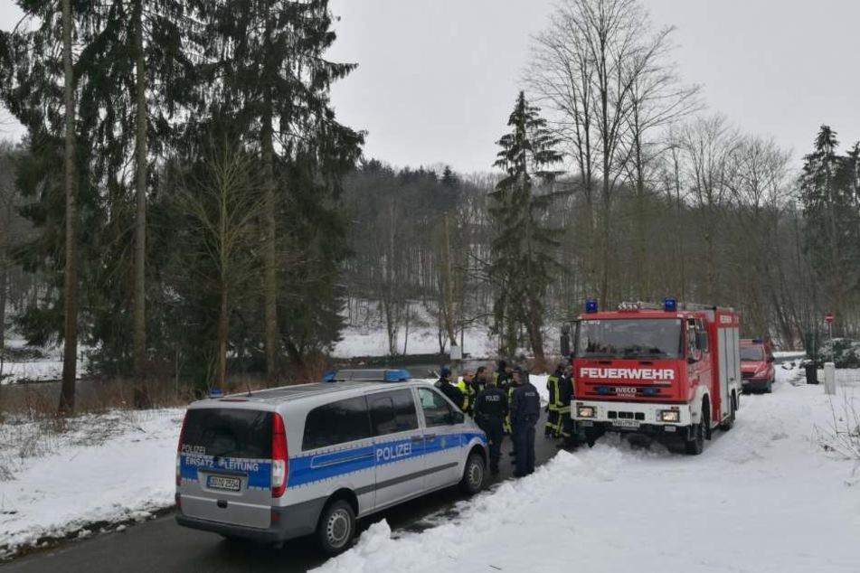 Suche nach vermisster Person an der Mulde zwischen Penig und Amerika (Sachsen).