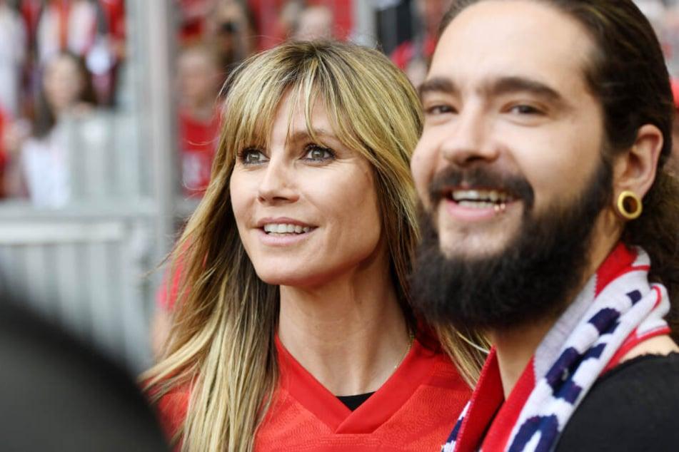 Heidi Klum und Tom Kaulitz beim Showdown am letzten Spieltag in der Allianz Arena in München.