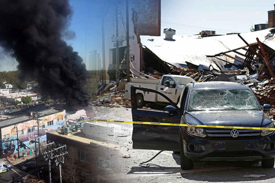Gasexplosion mitten in der Stadt: Ein Toter und 17 Verletzte
