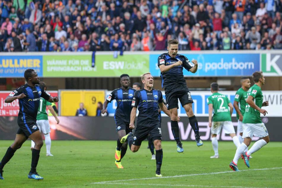 Der Paderborner Philipp Klement (26) traf am vierten Spieltag zum 1:1 gegen den VfL Bochum (Endstand: 2:2).