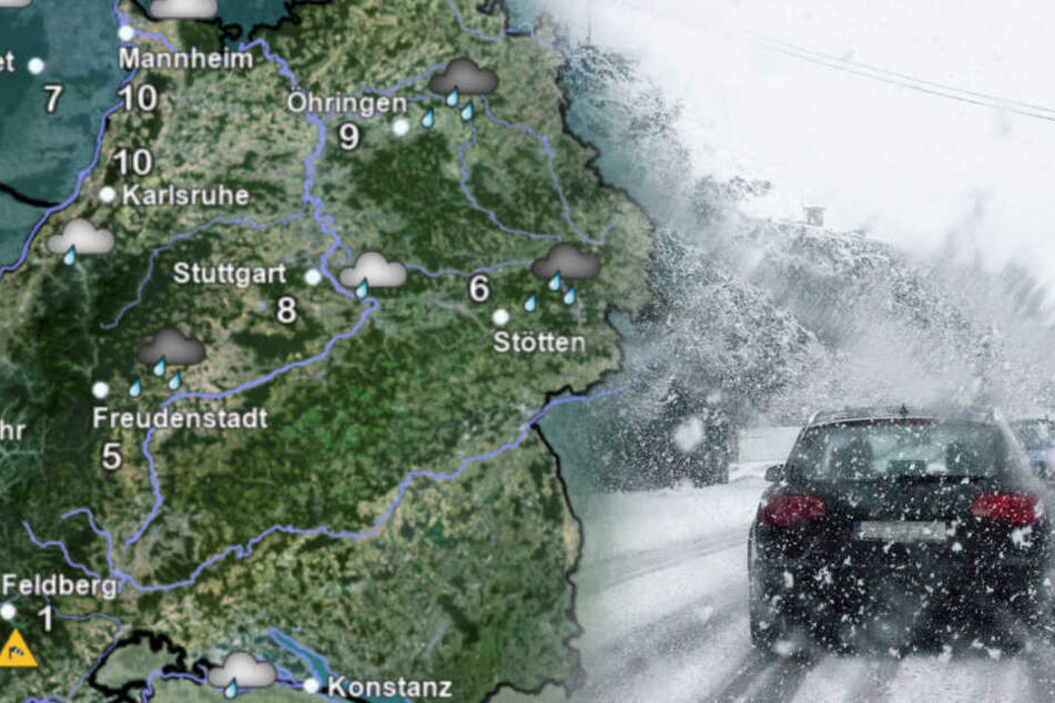 Widerliches Wetter! Orkanartige Sturmböen und Schnee im Ländle
