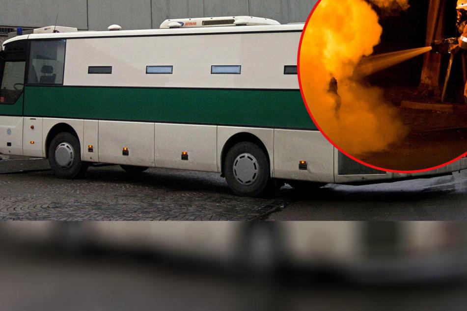 In Brehna ist ein Gefangenentransporter in Flammen aufgegangen. War es Brandstiftung? (Symbolbild)