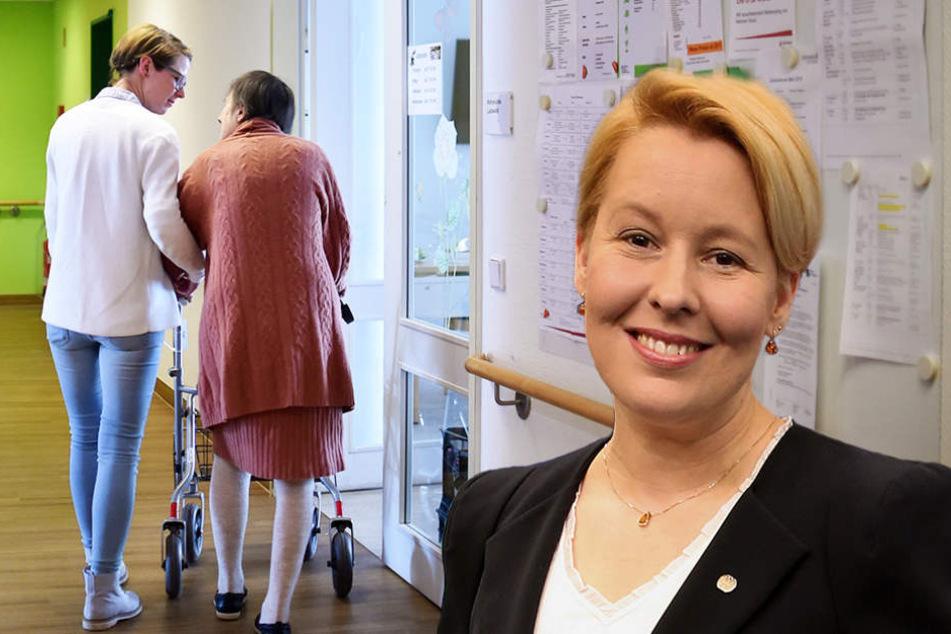 Franziska Giffey (39, SPD) will soziale Berufe attraktiver machen.