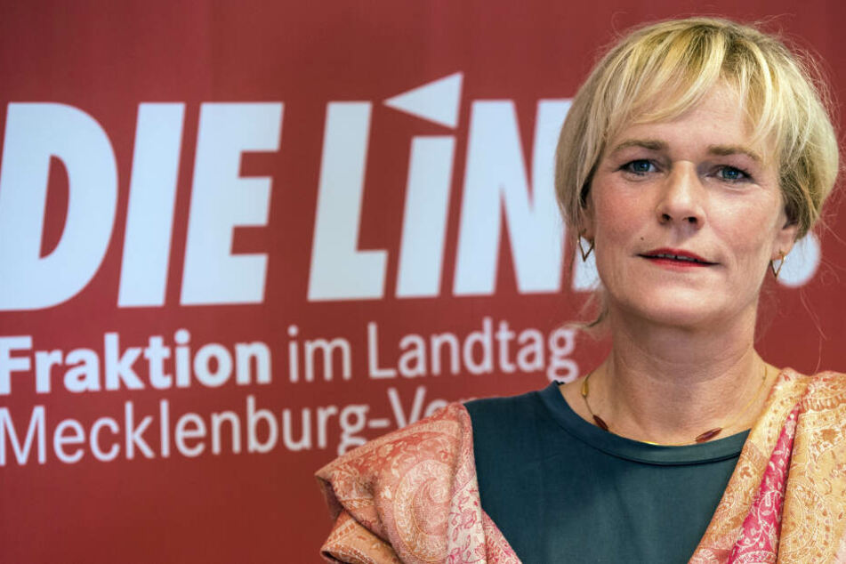 Die Chefin der Linksfraktion im Landtag von Mecklenburg-Vorpommern, Simone Oldenburg.