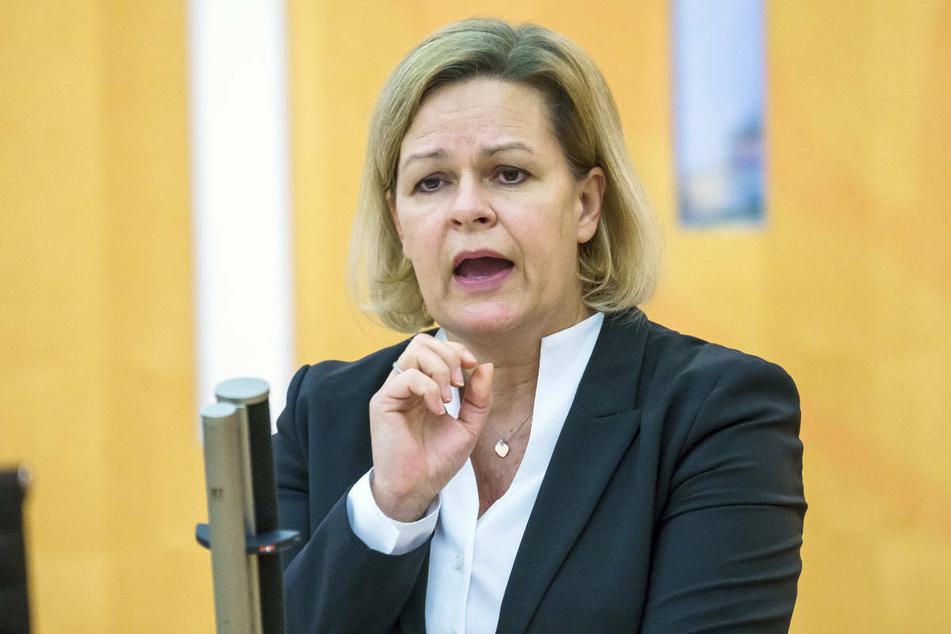 Nancy Faeser (51) die Fraktionsvorsitzende der SPD im hessischen Landtag.