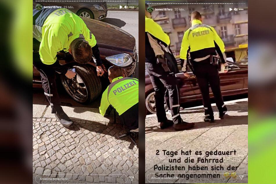 Auf Instagram hält der 187-Boss die Polizeikontrolle fest.