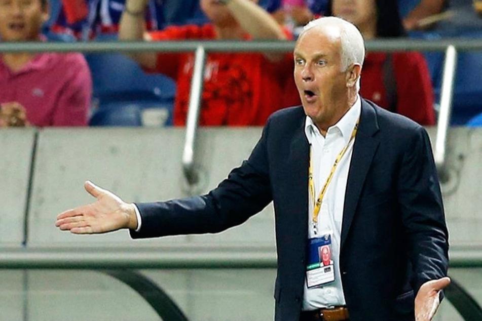 Stange wurde während der Asienmeisterschaft gefeuert.