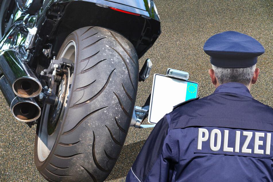 Auch die Polizei kontrolliert regelmäßig rasende Motorradfahrer. (Symbolfoto)