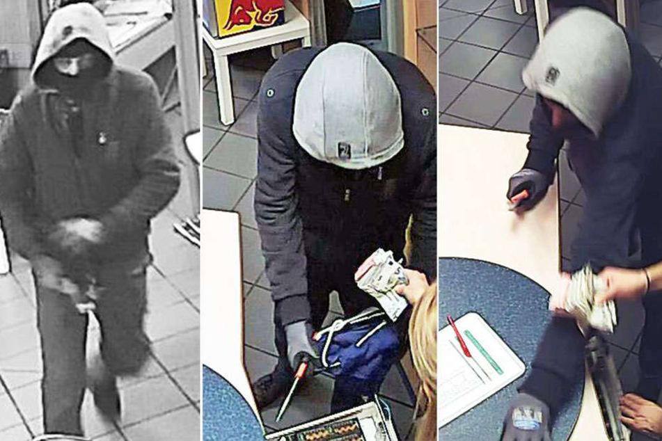 Der Maskierte drang in das Sonnenstudio ein, bedrohte eine Angestellte und erbeutete Bargeld.