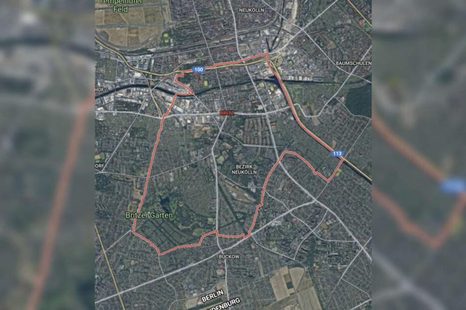 Das betroffene Grundstück liegt in Berlin-Britz.