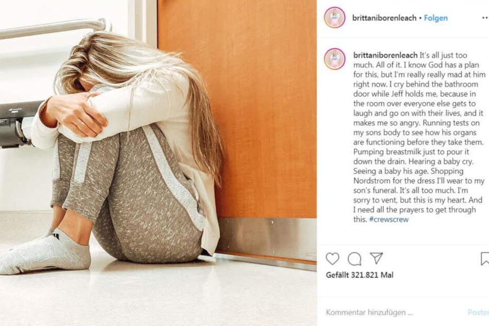 So gab Brittani Boren Leach den Tod ihres Sohnes auf Instagram bekannt.