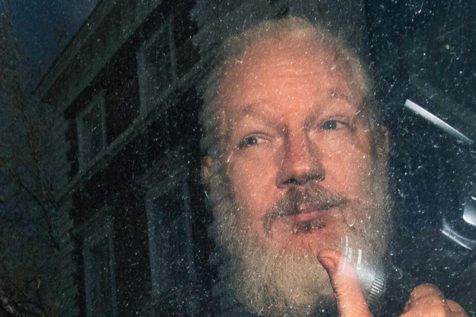 April 2019: Julian Assange kommt am Westminster-Amtsgericht in London an.