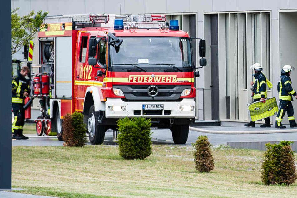 Die Feuerwehr war am Mittwochmorgen auf dem Gelände von Dr. Oetker.