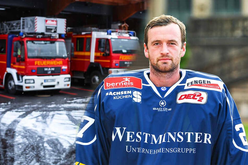 Sebastian Stefaniszin will sich seinen Traum mit 31 Jahren erfüllen und geht zur Feuerwehr. (Bildmontage)