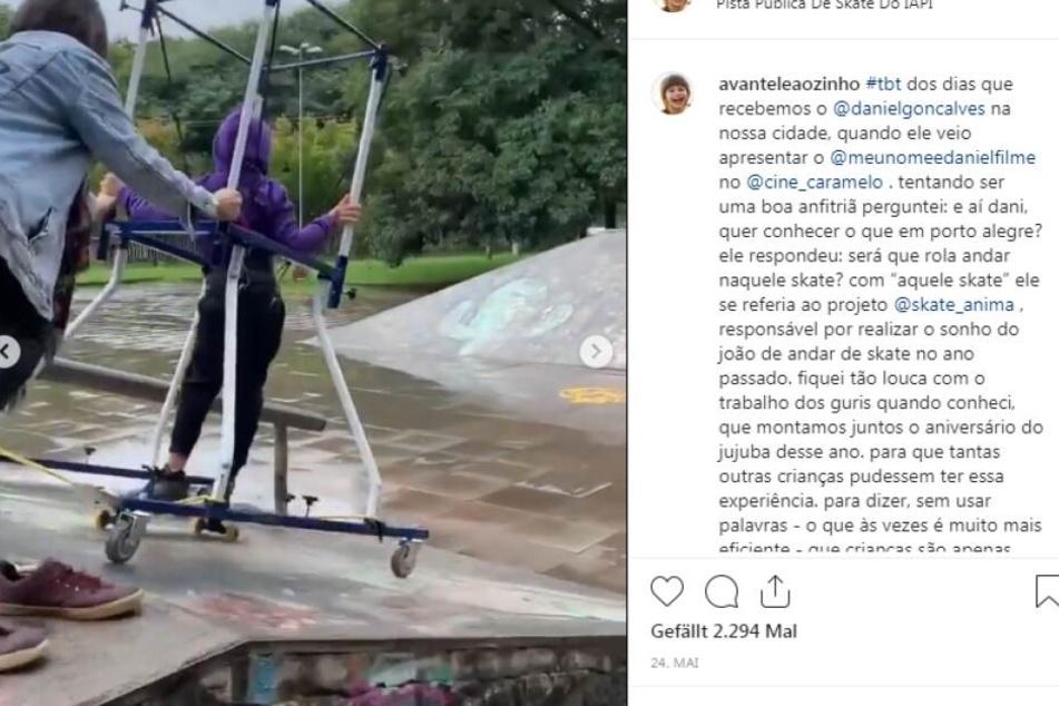 Avante Leaozinho (7) ist im Skatepark unterwegs.
