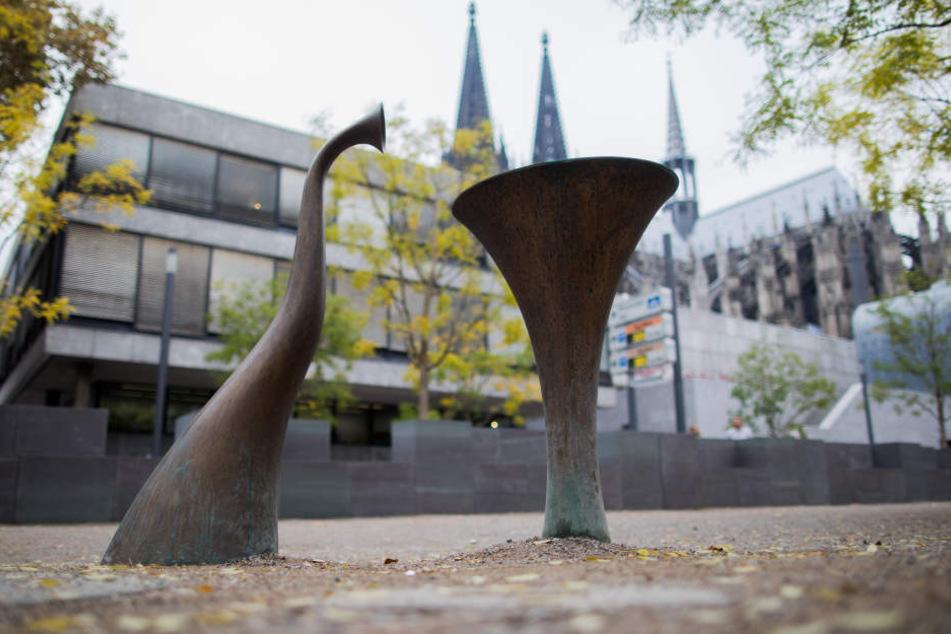 Ein Trinkbrunnen am Kurt-Hackenberg-Platz