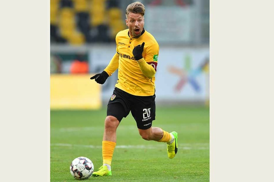 Mit dem Ball am Fuß gibt Patrick Ebert Anweisungen. Seine Ausstrahlung auf dem Platz in der Partie gegen seinen einstigen Arbeitgeber FC Ingolstadt war überragend.