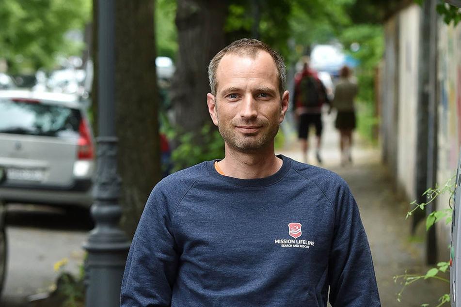 """Der Vorsitzende von """"Mission Lifeline"""", Axel Steier."""