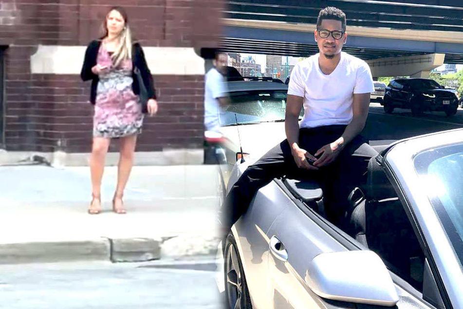 Corvontae Davis (rechts) ist stolzer Ford-Mustang-Besitzer. Das wusste die unbekannte Frau (links) jedoch nicht oder wollte sie nicht wahrhaben.