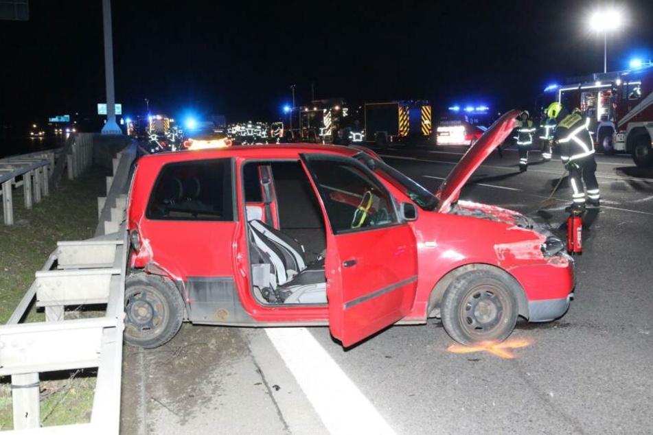 Auf der A113 hat es am Dienstagabend einen schweren Unfall gegeben.