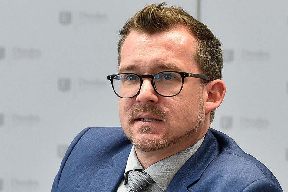 """Wir können Bäume nur oberirdisch pflanzen"": Baubürgermeister Raoul Schmidt-Lamontain (42, Grüne)."