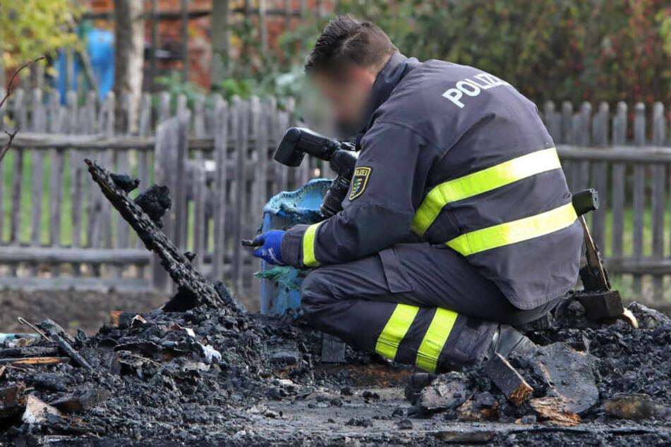 Die Polizei hat die Ermittlungen aufgenommen. Handelt es sich um eine Brandstiftung?