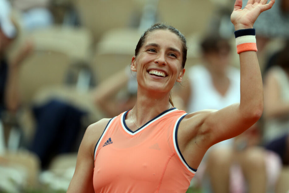 Andrea Petkovic bei den French Open.