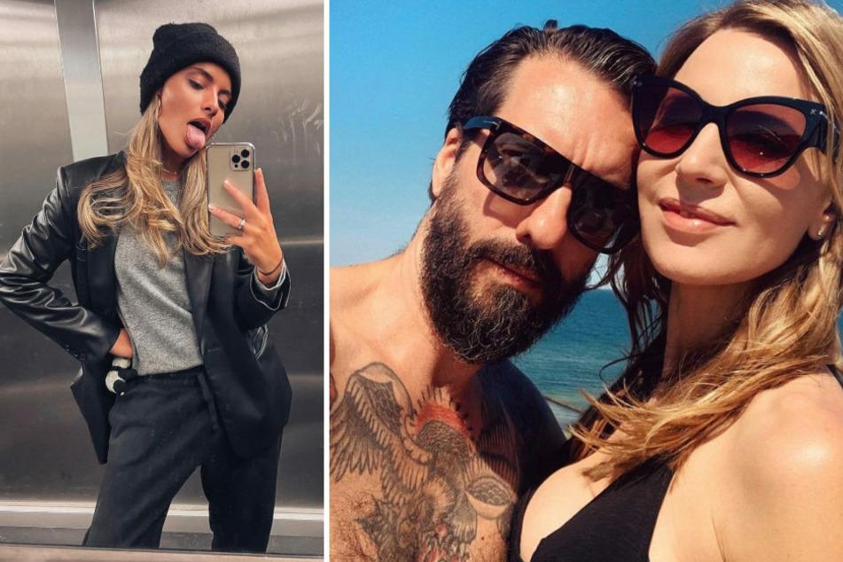 Zum Jahreswechsel hat die werdende Mutter Johanna Völkel (43, r.) bei Instagram ein gemeinsames Foto mit Ehemann Alec (48) veröffentlicht, das von keiner geringeren als Sophia Thomalla (31) geschossen wurde.