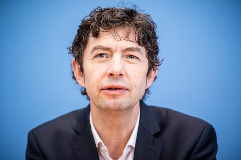 Prof. Dr. Christian Drosten, Direktor Institut für Virologie, Charité Berlin, aufgenommen bei einer Pressekonferenz zum aktuellen Stand der Coronavirus Infektionen.