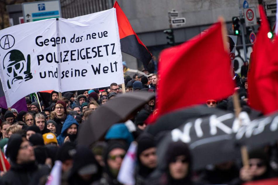 Der Protest in Düsseldorf gegen das Polizeigesetz lief friedlich.