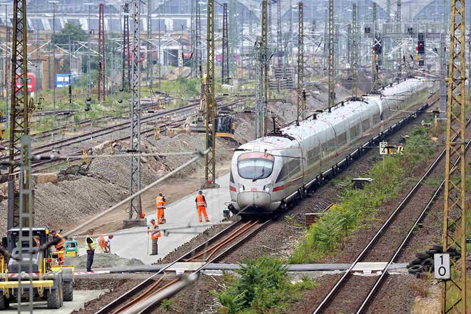 Es brennt! Bahnstrecke zwischen Dresden und Leipzig gesperrt