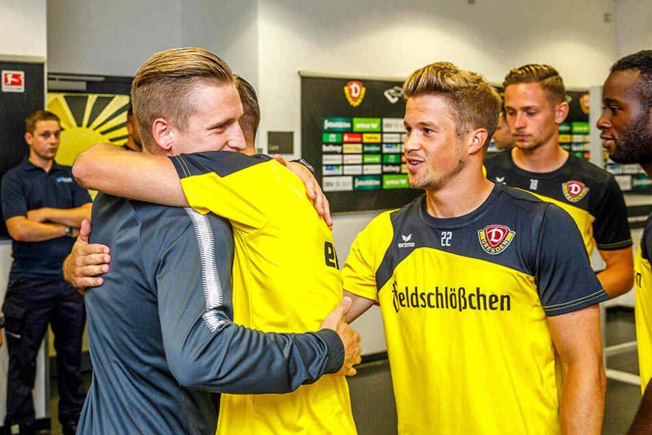 Im Sommer 2017 kehrte Marvin Stefaniak mit dem VfL Wolfsburg nach Dresden zurück und wurde von den Dynamos herzlich begrüßt