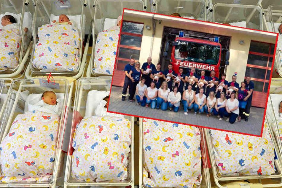 Die Kameraden der Feuerwehr Pegau sowie deren Ortsfeuerwehren freuen sich derzeit über elf Babys.
