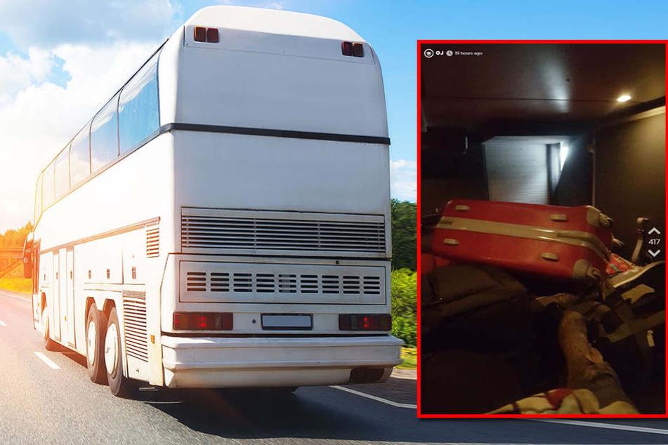 Horror-Busfahrt! Studentin wird im Gepäckraum eingeschlossen