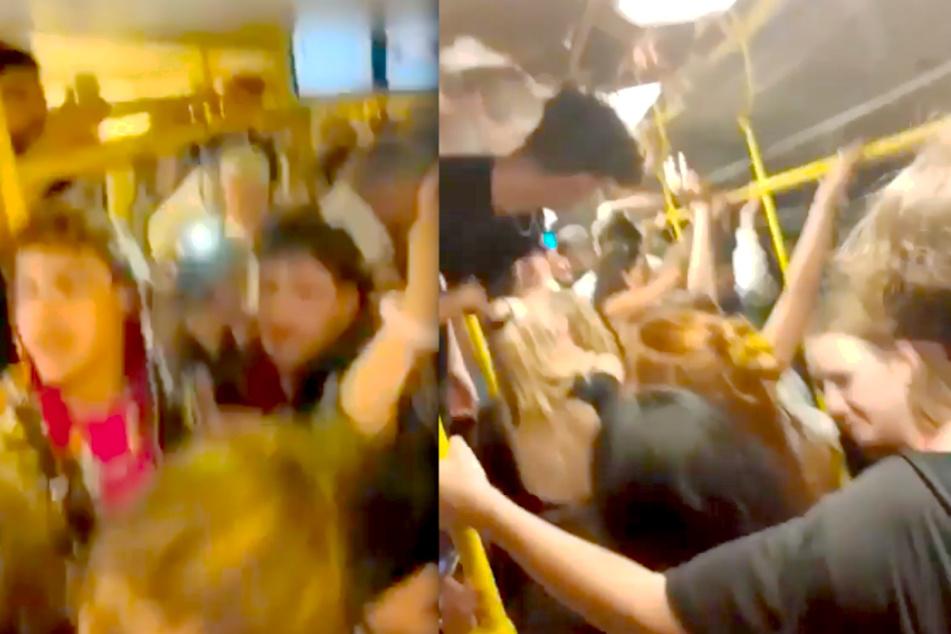 Wilde Partys in Berliner U-Bahn: Diese Bilder machen sprachlos!