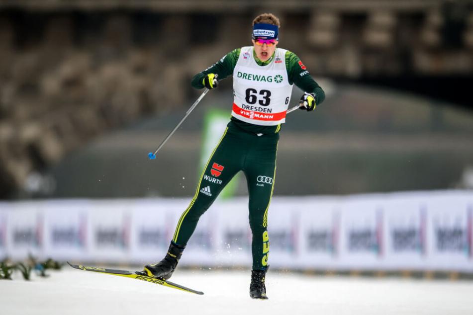 Am Wettkampf-Samstag tritt Richard Leupold (22) selbst an im Rennen um die schnellste Zeit beim Skiweltcup.