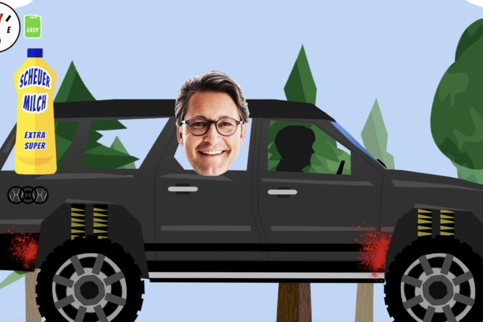 Hier bekommt Verkehrsminister Andreas Scheuer eine gescheuert